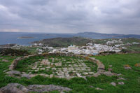 Threshing floor and view of Chorio